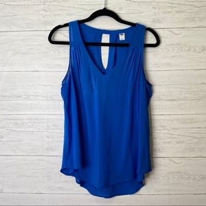 Of navy tank top blouse